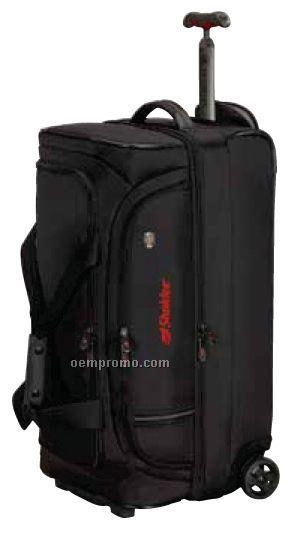 Red Werks Traveler Wheeled Dual Compartment Drop-bottom Duffel Bag