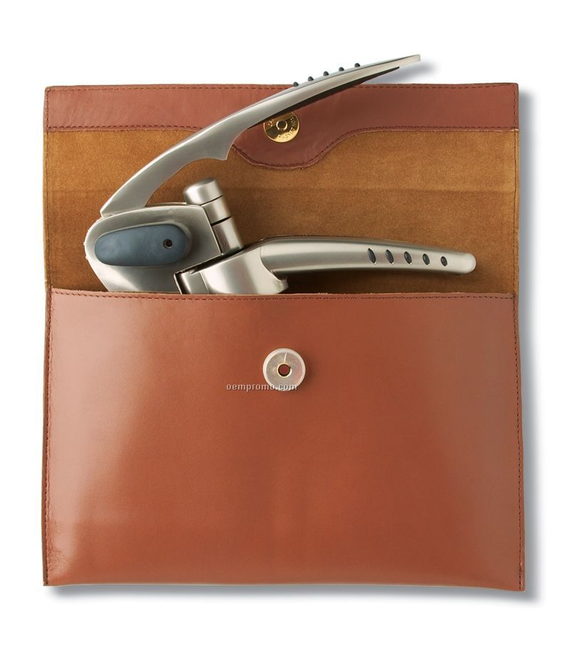 Swiftpull Pro Uncorking Machine Set With Leather Pouch
