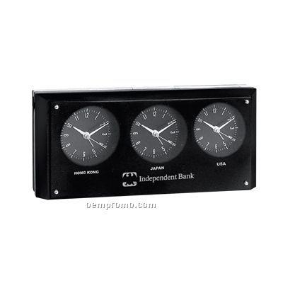 3 Time Zone Alarm Clock