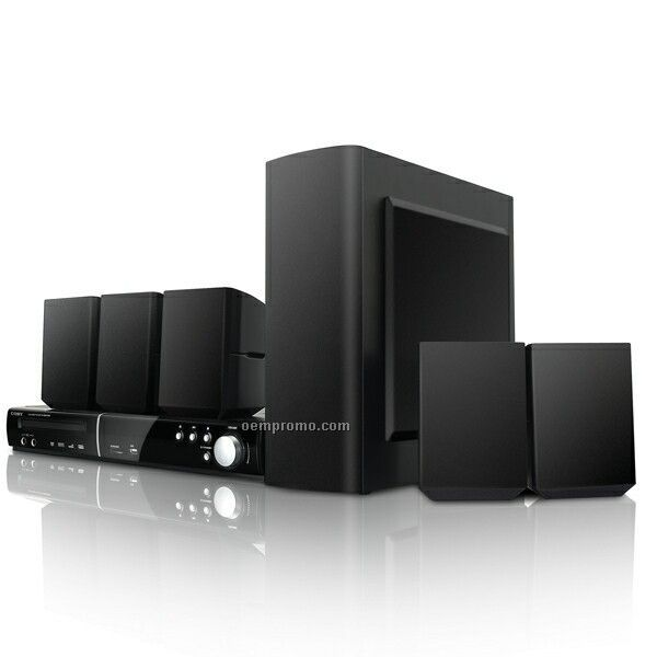 5.1 Channel DVD Player/Receiver Home Theater System W/ USB & Sd