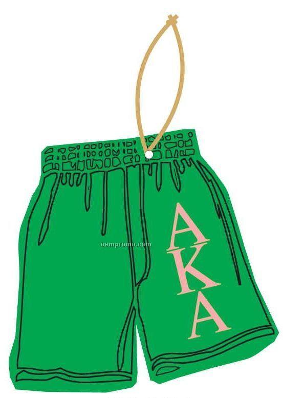Alpha Kappa Alpha Sorority Shorts Ornament W/ Mirror Back (12 Square Inch)