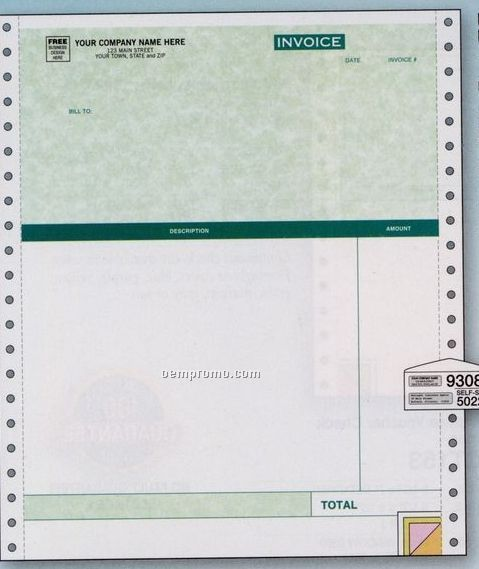 Classic Professional Invoice (3 Part)