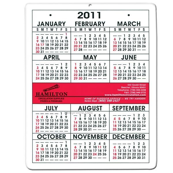 Compact Wall Calendar