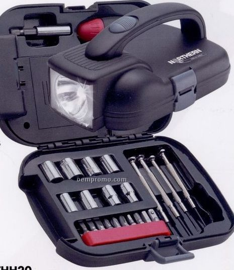 Maxam 25-piece Tool Set / Flashlight (Standard Service)