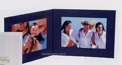 "Black Horizontal Double-sided Portrait Folder (4""X6"")"