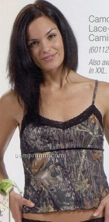 Camouflage Lace-trimmed Camisole