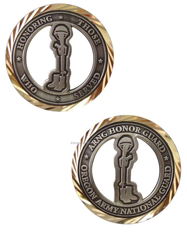 """Die Cast Alloy Injection Double Sided Challenge Coin (1 3/4"""")"""