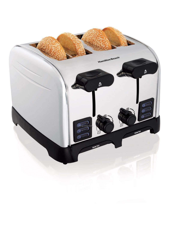 Hamilton Beach Smart Toast Chrome 4 Slice Toaster