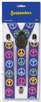 Peace Sign Suspenders