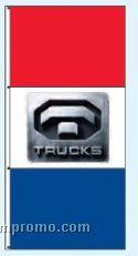 Single Face Dealer Free Flying Drape Flags - Trucks