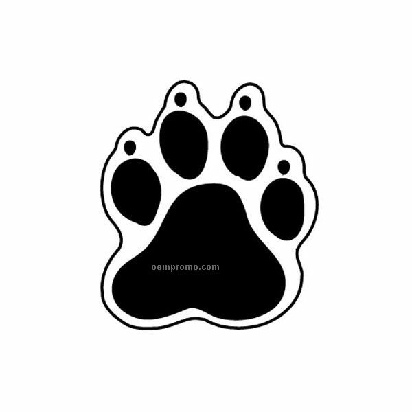 Stock Shape Paw Print Recycled Magnet