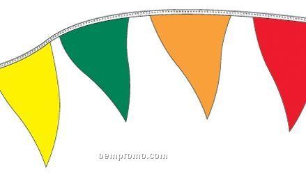 50' Regular Mass Pennants W/ 35 Per String - Yellow