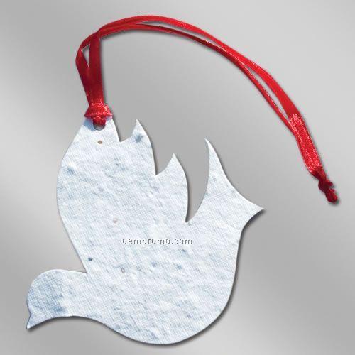 Color Floral Seed Paper Ornament - Dove (No Imprint)