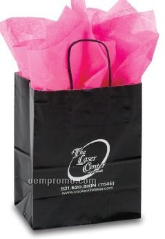 "Hot Stamped Claycoated Paper Shopping Bag (8""X4.75""X10"")"