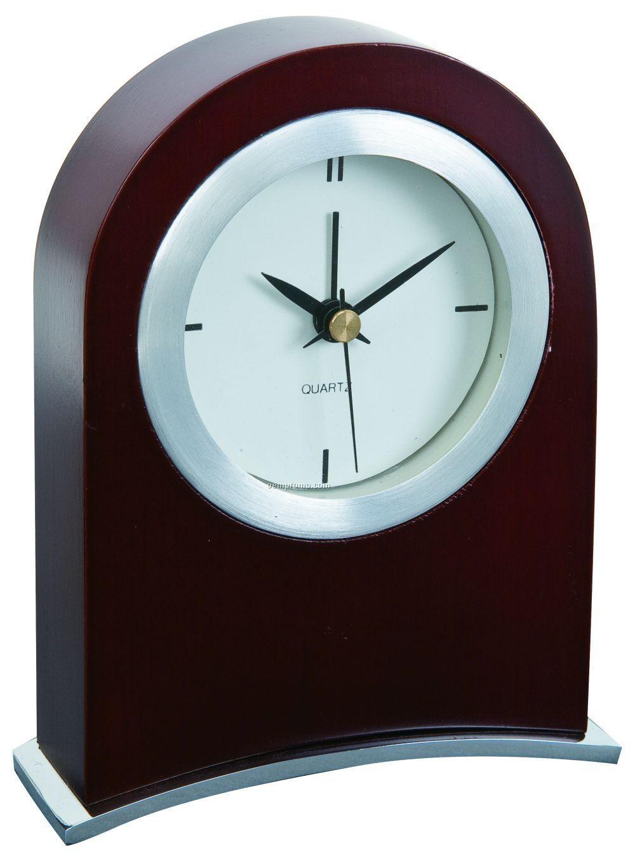 Wood Arched Desk Clock
