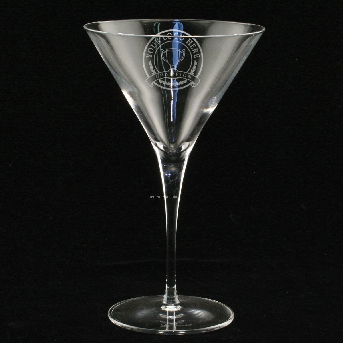 10 Oz. Estate Martini Glass (Set Of 2 - Deep Etch)