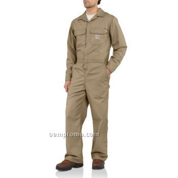 Flame-resistant Twill Coverall Unlined