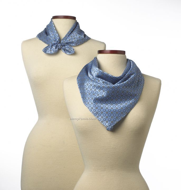 "Wolfmark Ellison Bay Polyester Scarf - Light Blue (21""X21"")"