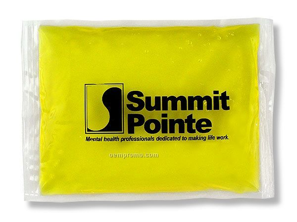 "Yellow Stay - Soft Gel Pack With Black, Blue Or Red Surface Imprint (4""X6"")"