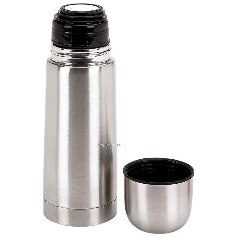 12 Oz. One Touch Stopper Stainless Steel Thermos