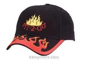 Flame Structured Brushed Cotton Twill Cap (Domestic 5 Day Delivery)