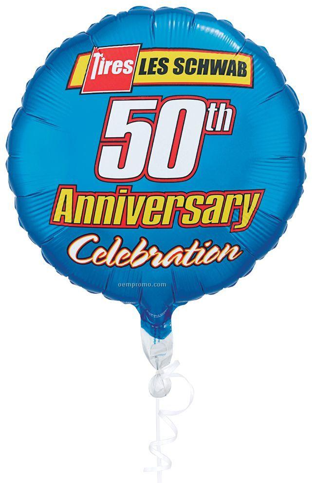 Round, Star Microfoil Flexographic Print Balloon - 5 Color Spot Print (20