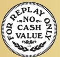 Stock For Replay Only No Cash Value Token (30mm Size)