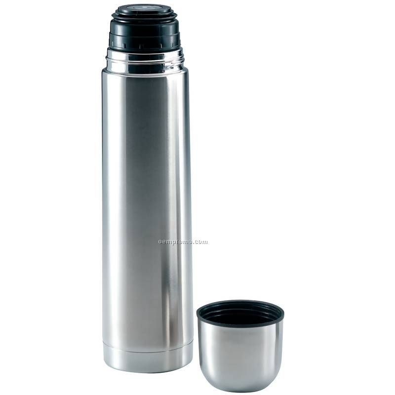 1qt Slim Stainless Steel Vacuum Bottle Thermos