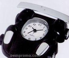 Black Metal Race Car Alarm Clock