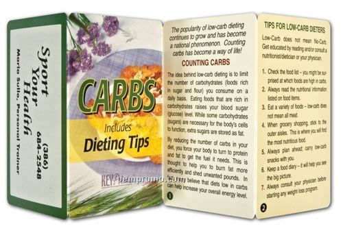 Counting Carbs & Dieting Tips Key Point Brochure