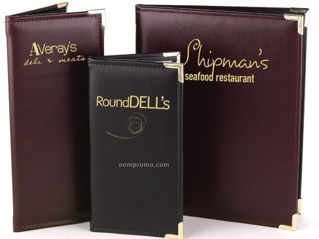 "Davenport Supreme Scottsdale Menu Cover - Two View/Book Style (4 1/4""X14"")"