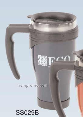 16 Oz. Color Coated Stainless Steel Mug (Screened)