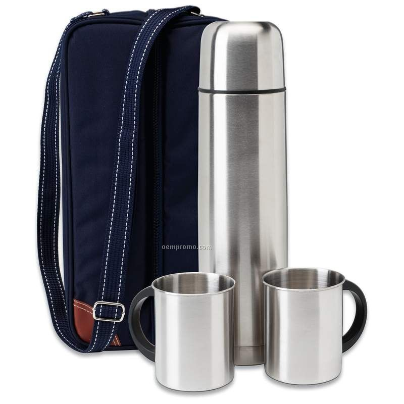 4 Piece Hot/Cold Thermos Beverage Set
