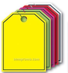"V-t Fluorescent Mirror Hang Tag - Blank W/ Border (8 1/2""X11 1/2"")"