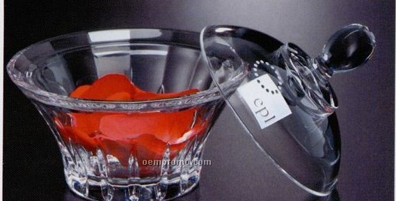 Distinctive Gift Gallery Crystal Recital Covered Dish