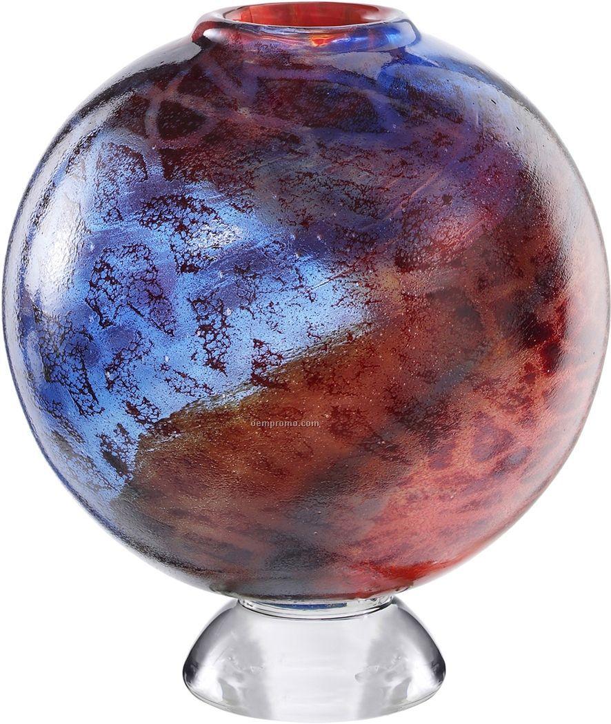 Zanzibar Glass Footed Sphere Vase