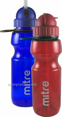 22 Oz. Sport Bottle W/ Straw & Finger Loop