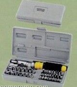 41 Piece Cordless Screwdriver Bit & Socket Set W/ Carrying Case