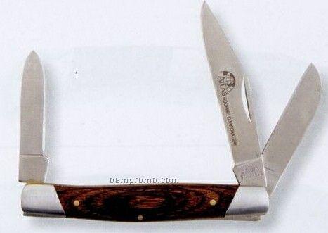 Dakota Three Blade Grizzly Pocket Knife