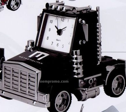 Minya Metal Black Truck Head Alarm Clock