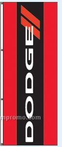 Single Face Dealer Free Flying Drape Flags - Dodge