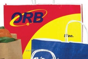 "Claycoated Custom Printed Paper Shopping Tote Bag (18""X7""X18"")"