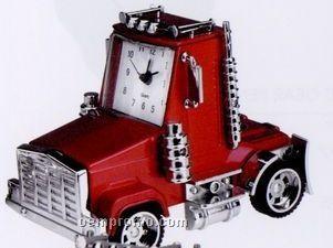 Minya Metal Red Truck Head Alarm Clock