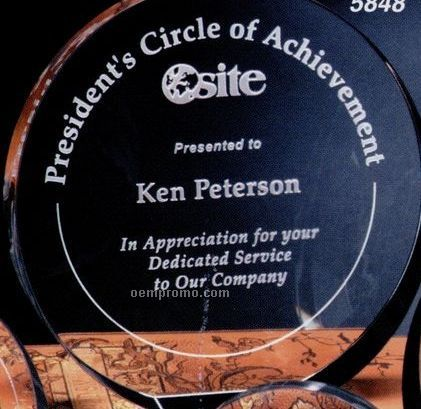 "Pristine Gallery Crystal Elite Circle Award (6"")"