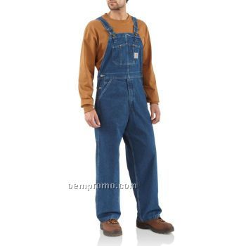 Washed Denim Bib Overall Unlined