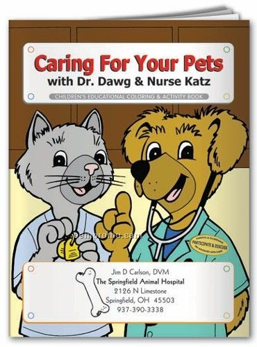 Action Pack Coloring Book W/ Crayons & Sleeve - Caring For Your Pets