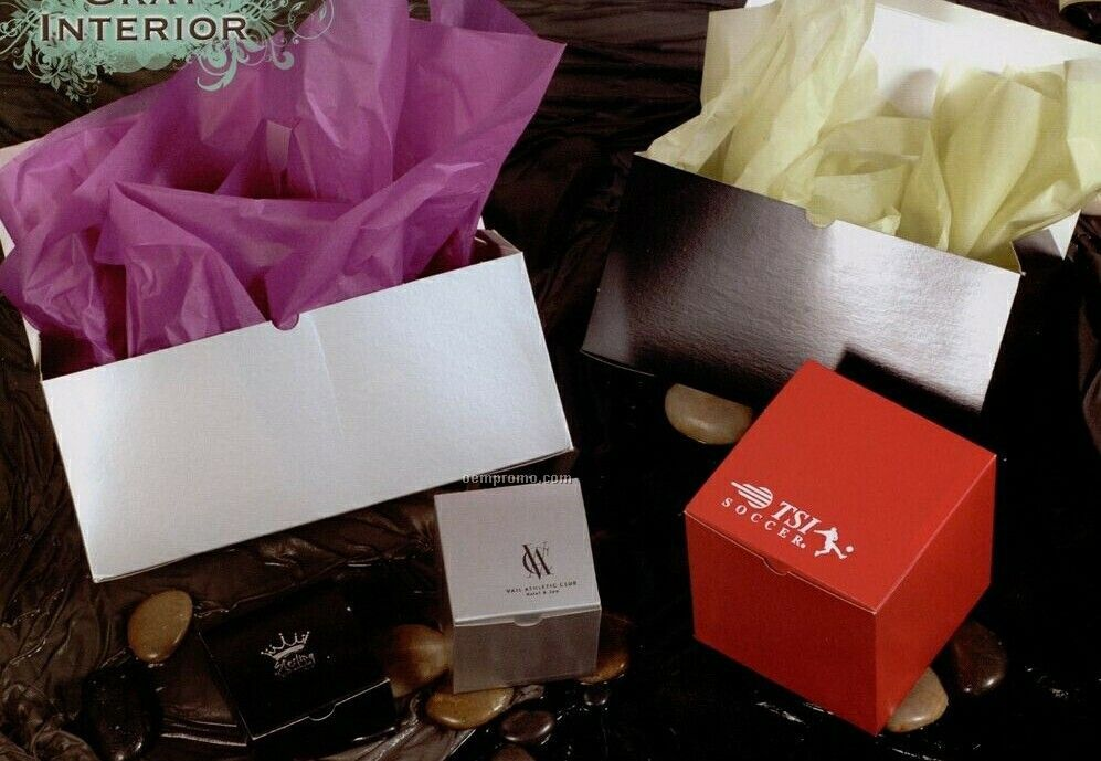 """Color Gloss Gift Boxes - 4""""X4""""X4"""""""