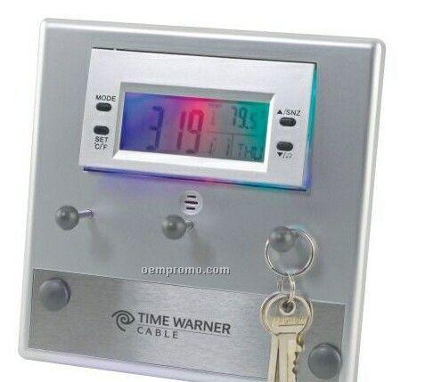 Key Holder Lcd Clock