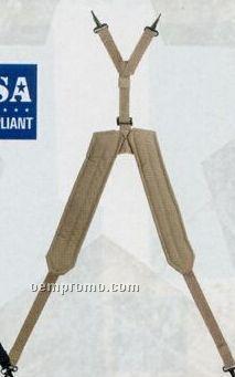 Khaki Beige Gi Type Enhanced Nylon Y Lc-1 Suspenders