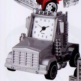 Minya Metal Silver Truck Head Alarm Clock